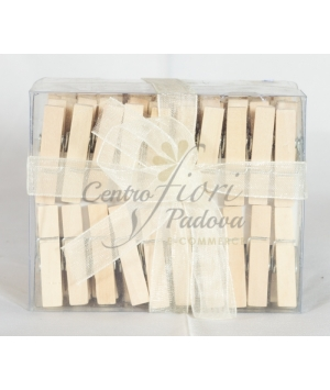 Mollette legno naturale