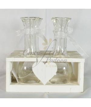Box legno bianco cuore