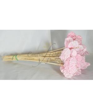 Stick Heart paper Pink