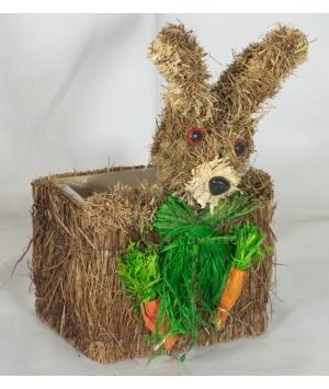 Easter Strawhaas Pot