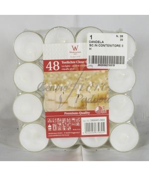 Candela Tealight con contenitore