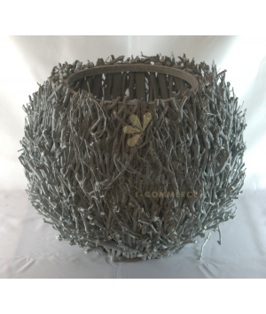 Vase Tea Twigs Round