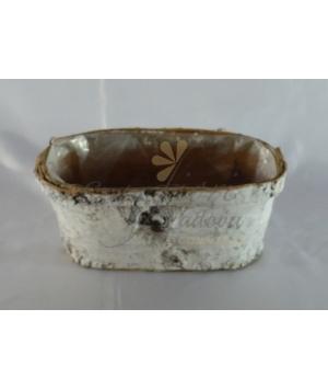 Vaschetta ovale betulla