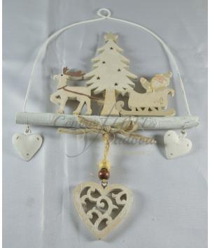 Ghirlanda Babbo Natale con Slitta