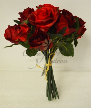 BOUQUET TESSUTO ROSE GOMMATE