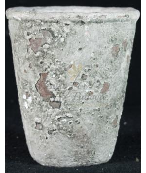 Vaso in cemento anticato