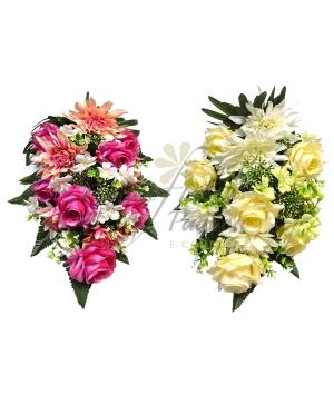 Bouquet frontale dalia bocciolo/rose x 24