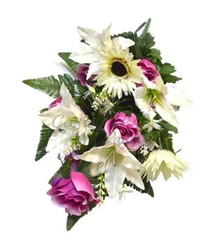 Bouquet frontale lilium/gerbera/bocciolo x 24