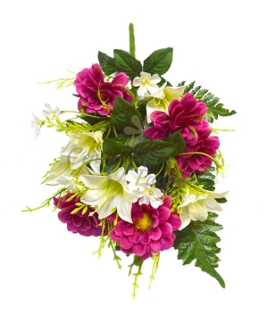 Bouquet frontale zinnia/longiflora
