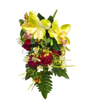 Bouquet frontale orchidea/boccioli x 8