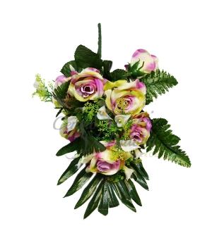 Bouquet frontale rosa/calla x 6