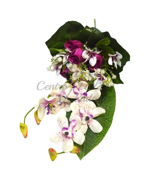 Bouquet frontale rose/orchidee x 6