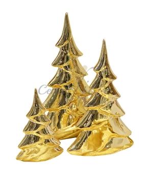 ALBERO DI NATALE CERAMICA GOLD