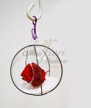 GLASS BALL PUMPKIN ROSES